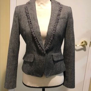 Banana republic wool blazer w ruffle detail 2P new